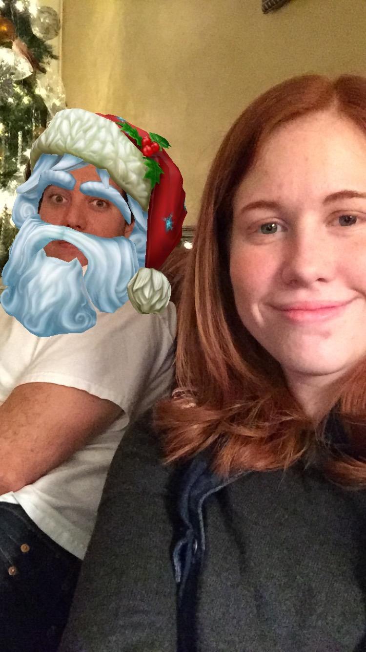ryan and katherine and santa